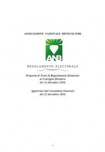 regolamento elettorale ANB 2016