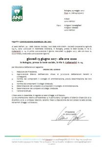 Convocazione ASS ANB COOP 2017
