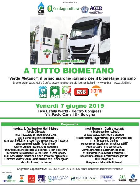 Programma A TUTTO BIOMETANO 2 - 7 giugno Fico Bologna